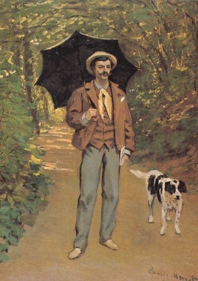 Monet, Claude: Portrait of Victor Jacquemont/Man with an Umbrella. Fine Art Print/Poster. Sizes: A4/A3/A2/A1 (00776)